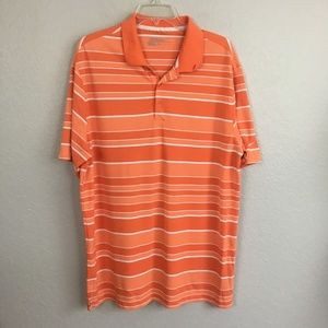 Nike Golf Dri Fit Orange Stripe Golf Shirt-XL